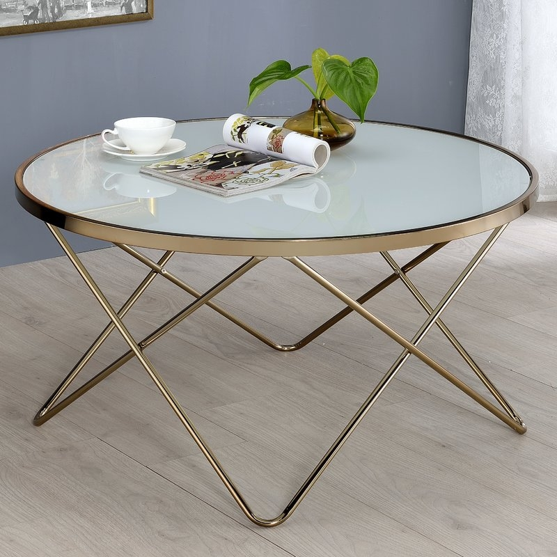 Great Brand New Glass And Metal Coffee Tables With Regard To Glass Coffee Tables Youll Love Wayfair (View 18 of 50)