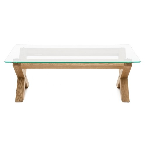 Great Brand New Glass Oak Coffee Tables For Casa Oakley Glass Coffee Table Leekes (Image 27 of 50)