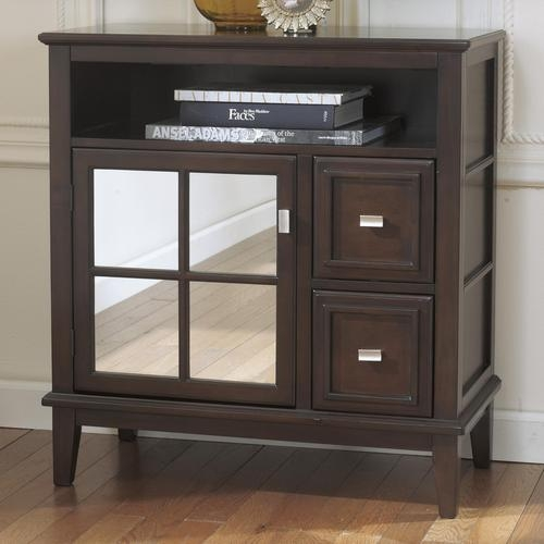 Great Brand New Mirrored TV Stands For Signature Design Ashley Larimer Console Tabletv Stand With (View 22 of 50)