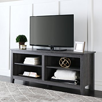 Great Brand New Modern TV Stands Within Amazon New 58 Modern Tv Stand Console In Charcoal Finish (View 28 of 50)
