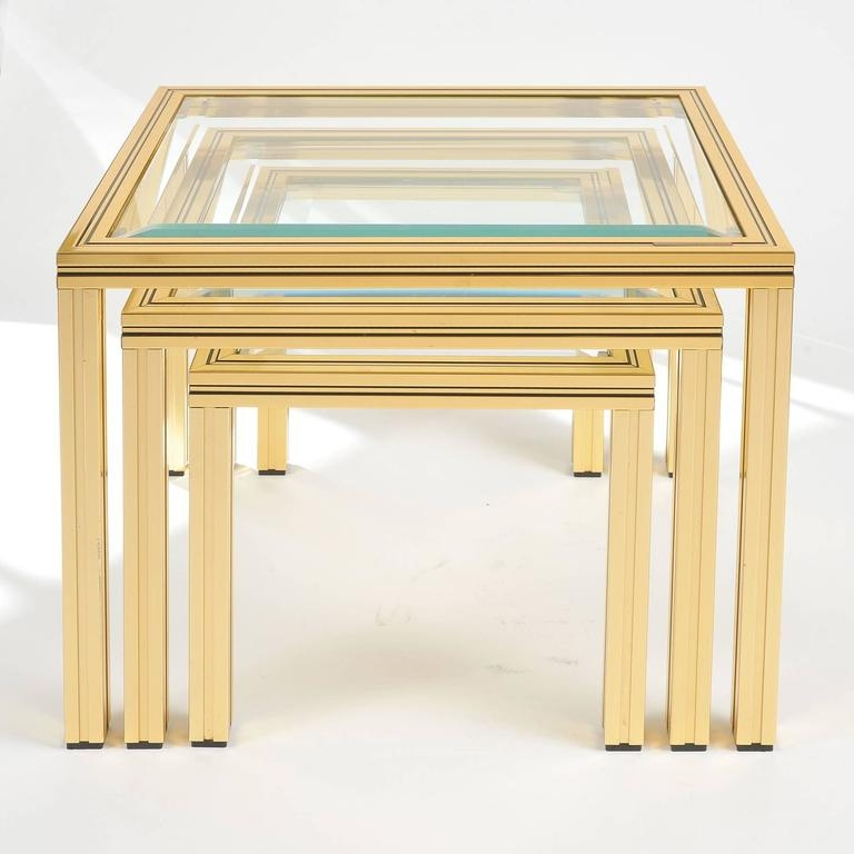 Great Brand New Nest Coffee Tables In Nest Of Coffee Tables Pierre Vandel At 1stdibs (Image 15 of 50)