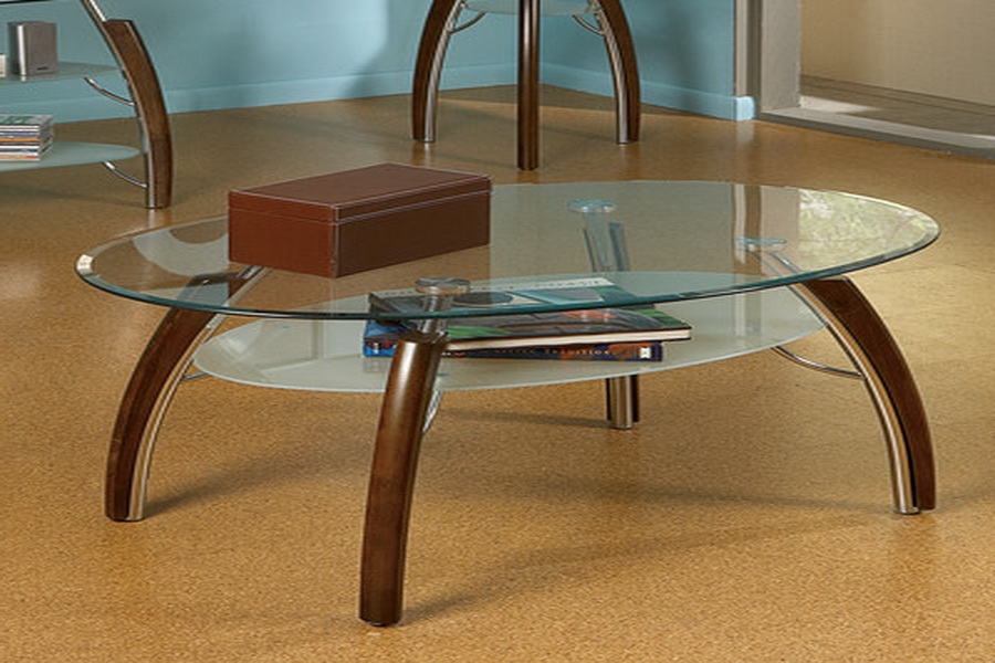 Great Brand New Oval Glass And Wood Coffee Tables Within Cool Oval Coffee Table Glass (Image 22 of 50)