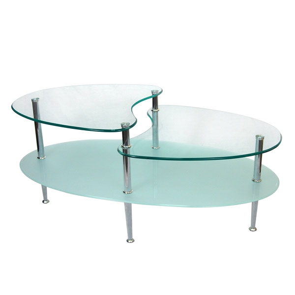Great Brand New Oval Shaped Glass Coffee Tables Within Style Your Modern Homes With Sleek Glass Coffee Table Home (Image 23 of 50)