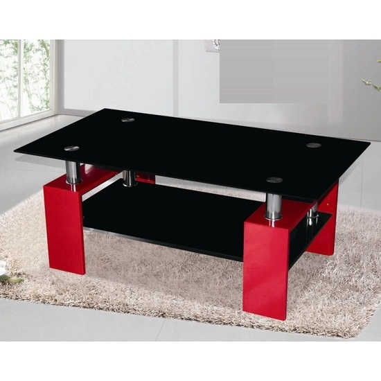 Great Brand New Red Gloss Coffee Tables With Kontrast Coffee Table In Black Glass With Red High Gloss (Image 18 of 40)