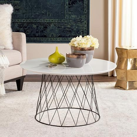 Great Brand New Safavieh Coffee Tables Inside Safavieh Roe Coffee Table 8231005 Hsn (Image 25 of 50)