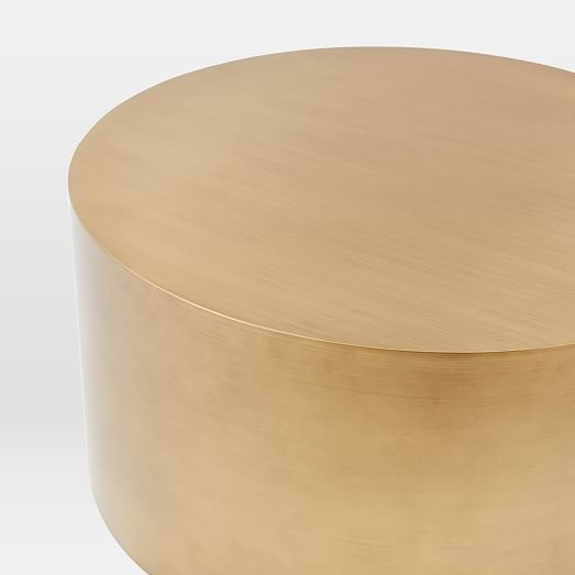 Great Brand New Silver Drum Coffee Tables Intended For Metal Drum Coffee Table Idi Design (Image 11 of 50)
