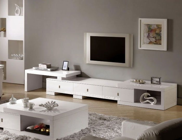 Great Brand New White TV Cabinets Regarding Retro Tv Cabinet With Extenable Sides Plus Drawers Only 749 This (Image 24 of 50)