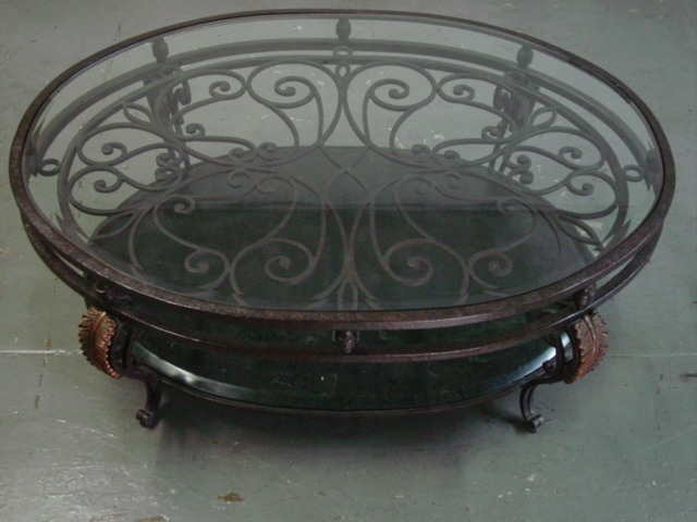 Great Brand New Wrought Iron Coffee Tables Throughout Iron Glass Coffee Table (Image 24 of 50)