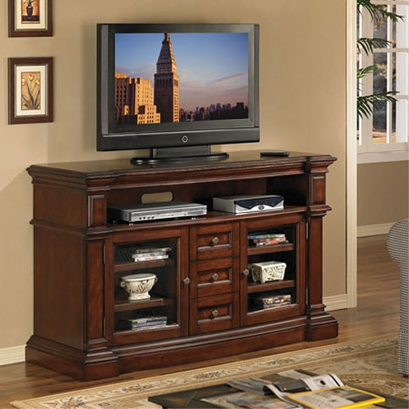 Great Common Cherry Wood TV Cabinets Inside Tv Stands Astonishing Tv Stand Cherry 2017 Design Sauder Tv Stand (View 7 of 50)