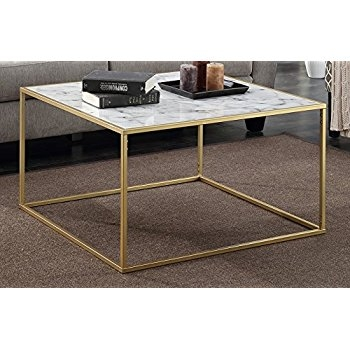 Great Common Marble Coffee Tables With Regard To Amazon Convenience Concepts Gold Coast Faux Marble Coffee (View 49 of 50)
