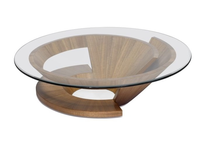 Great Common Round Glass And Wood Coffee Tables For Wood Glass Coffee Table (Image 22 of 50)