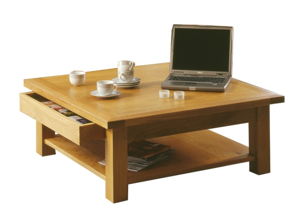 Great Common Square Oak Coffee Tables In Horizon Square Oak Coffee Table With Drawer Horizon Furniture Uk (Image 18 of 50)