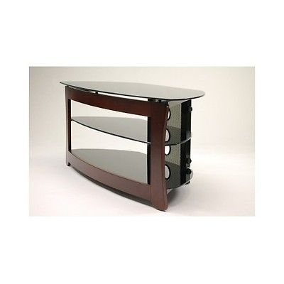 Great Common Wood TV Stands With Swivel Mount Regarding Modern Tv Stand 55 Inch Swivel Mount Black Glass Shelves Corner (Image 16 of 50)