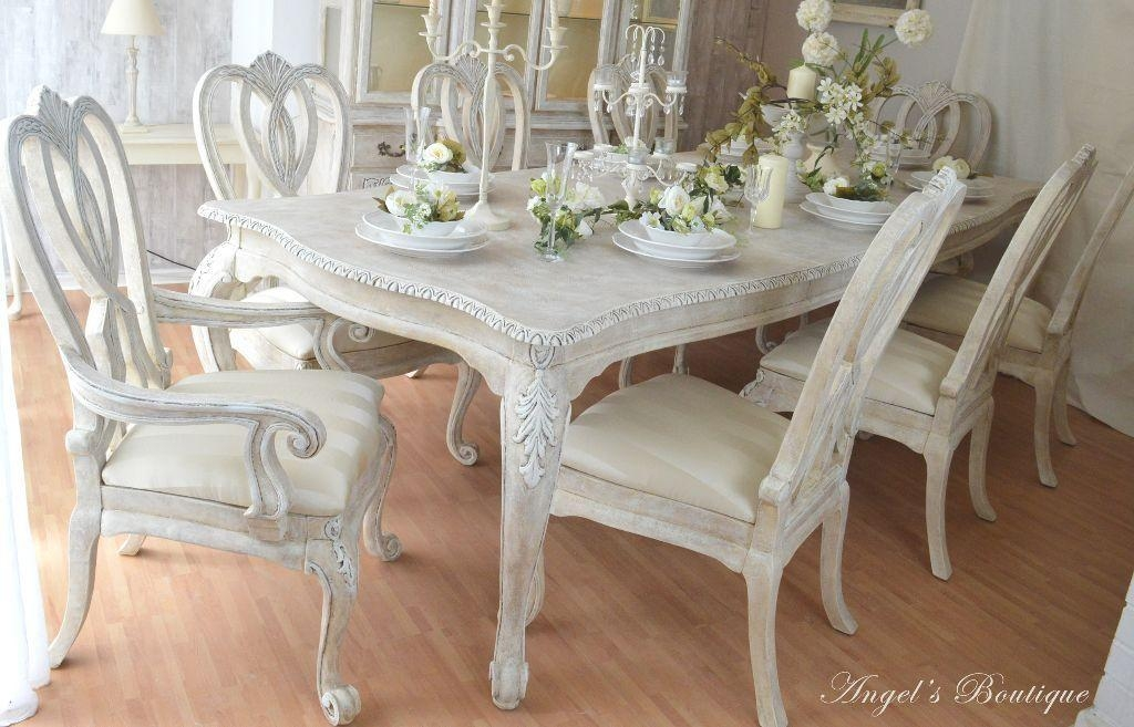 Great Deal *** Unique & Beautiful *** !! French Shabby Chic Dining Pertaining To French Chic Dining Tables (Image 16 of 20)