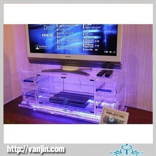 Great Deluxe Acrylic TV Stands With Regard To Clear Square Acrylic Tv Stand Table With Led Light Products Buy (Image 25 of 50)
