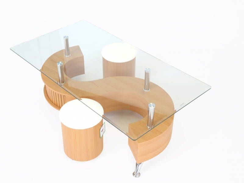 Great Deluxe Beech Coffee Tables Pertaining To And Desk 39 S Gt Coffee Tables Gt S Shaped Coffee Table With  (Image 18 of 50)
