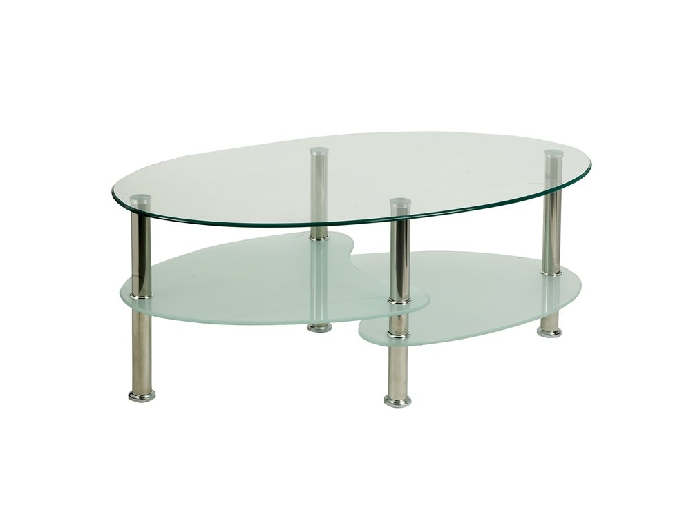 Great Deluxe Coffee Tables With Chrome Legs In Dynamo Berlin Coffee Table With Chrome Legs And Shelves (Image 21 of 50)