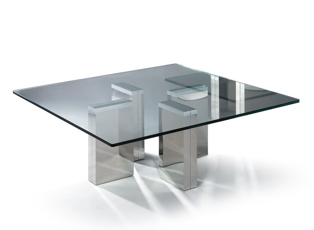 Great Deluxe Contemporary Glass Coffee Tables  Intended For Modern Glass Coffee Tables Uk Modern Square Glass Coffee Table (Image 24 of 50)