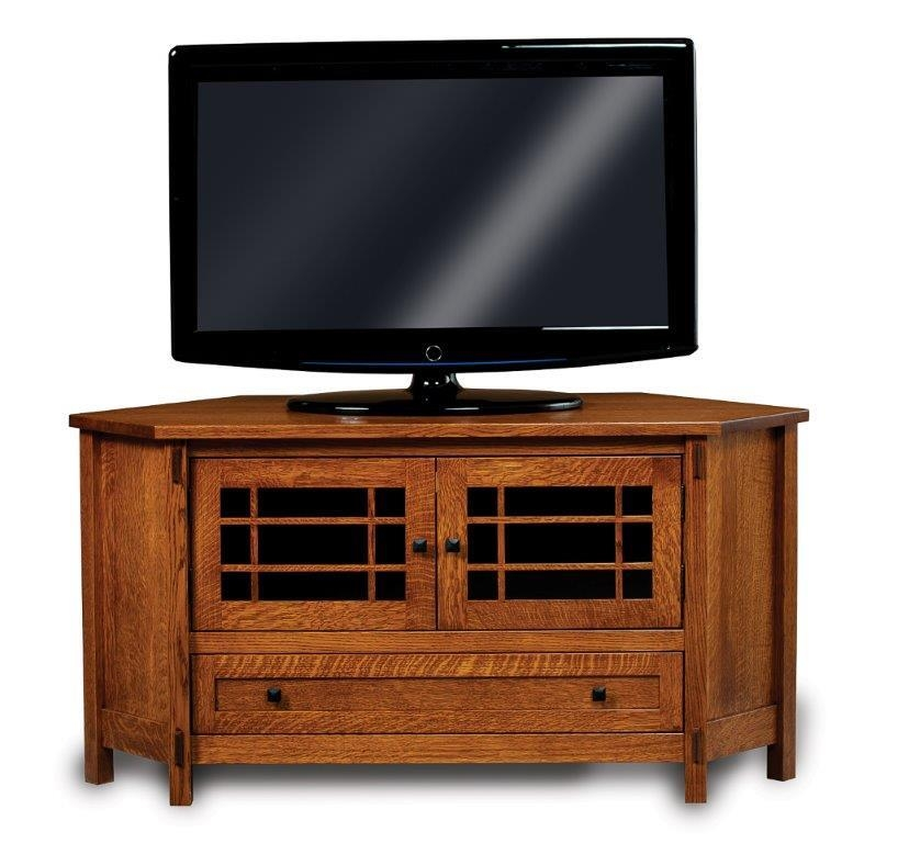 Great Deluxe Corner TV Stands With Drawers Intended For Centennial Corner Lcd Tv Stand With Two Doors And Drawer From (Image 22 of 50)
