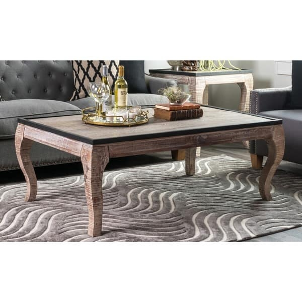 Great Deluxe Cosmo Coffee Tables With Regard To Kosas Home Cosmo Wood With Iron Trim Coffee Table Free Shipping (View 47 of 50)