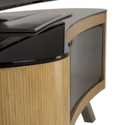 Great Deluxe Curve TV Stands Within Avf Bay Curved Tv Stand For Up To 70 Flat Panel Tvs Oak Whats (View 31 of 50)