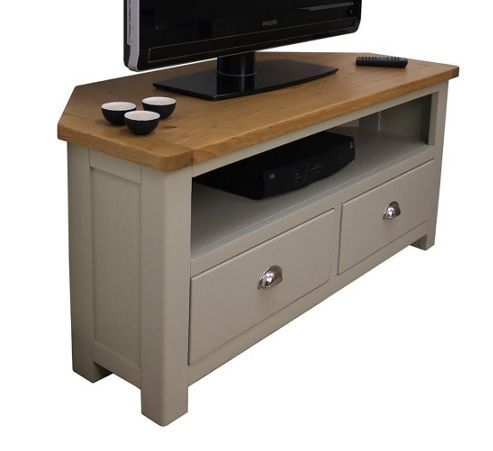 Great Deluxe Grey Corner TV Stands Intended For Best 25 Oak Corner Tv Stand Ideas On Pinterest Corner Tv (View 30 of 50)