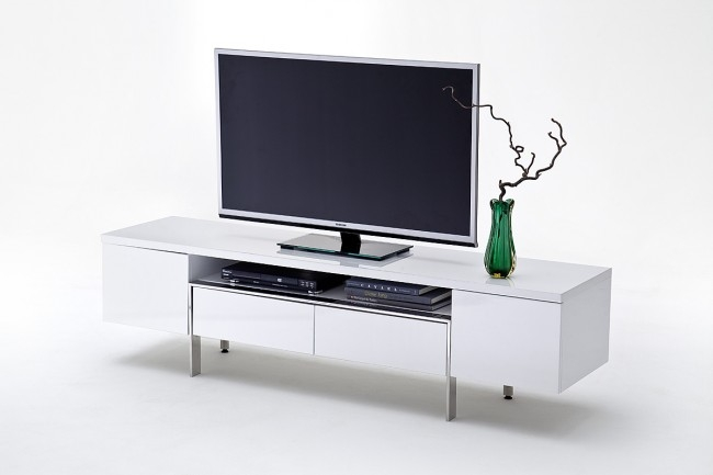 Great Deluxe High Gloss White TV Stands With Regard To Retrofit High Gloss White Tv Stand Metal Legs Funiquecouk (Image 19 of 50)
