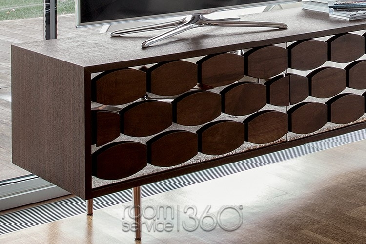 Great Deluxe Honey Oak TV Stands Pertaining To Honey Modern Tv Stand Tonin Casa Made In Italy (Image 24 of 50)