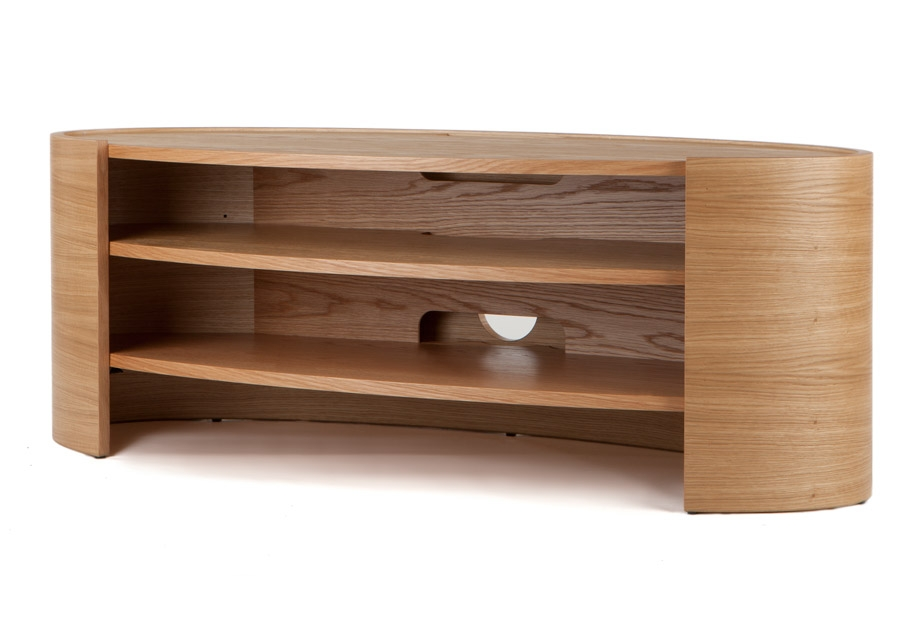 Great Deluxe Large Oak TV Stands Inside Tom Schneider Elliptic 1400 Natural Oak Hand Made Tv Stand Wood (Image 19 of 50)