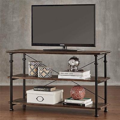 Great Deluxe Metal And Wood TV Stands Throughout Weathered Brown Modern Country Rustic Industrial Wood Metal Tv (Image 16 of 50)