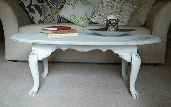Great Deluxe Oval White Coffee Tables Pertaining To Diy Shab Chic White Coffee Table The Project Of 2012 Pinterest (Image 21 of 50)