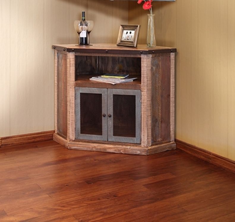 Great Deluxe Pine Corner TV Stands Within Antique Multi Color Corner Tv Stand Tv Stand Seat N Sleep (Image 17 of 50)