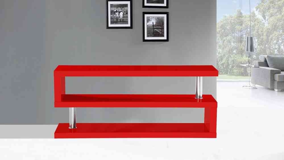 Great Deluxe Red Gloss TV Stands With Tv Stand Unit In Red High Gloss Homegenies (View 21 of 50)