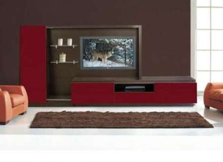 Great Deluxe Red TV Cabinets For Wall Tv Cabinet Hugmachine (Image 24 of 50)