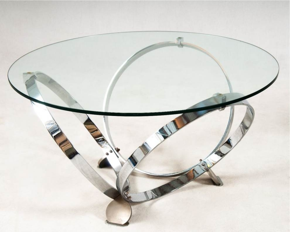 Great Deluxe Round Chrome Coffee Tables Intended For Medium Size Of Coffee Tableglass Coffee Tables Modern Glass Coffee (Image 15 of 50)