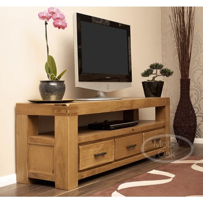Great Deluxe Rustic Oak TV Stands Within Large Tv Cabinets Full Size Of Kitchen Cabinet Tv Console Table (View 7 of 50)