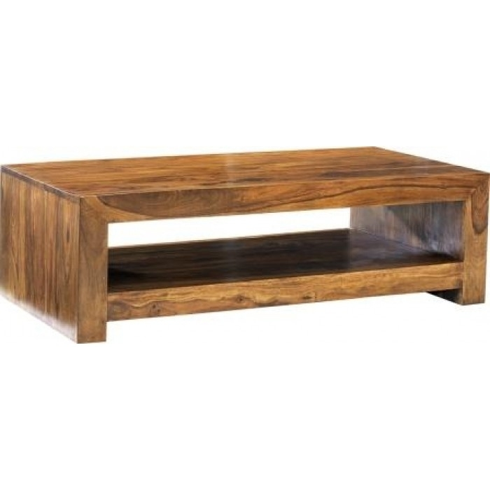 Great Deluxe Sheesham Coffee Tables For Cuba Sheesham Living Modern Coffee Table Flintshire Chester (View 37 of 50)