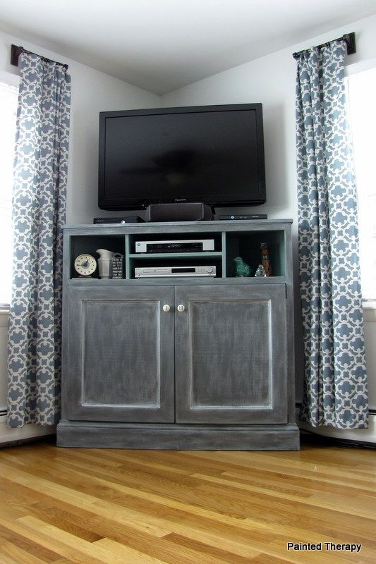 Great Deluxe TV Cabinets Corner Units Inside Best 25 Wood Corner Tv Stand Ideas On Pinterest Corner Tv (Image 18 of 50)