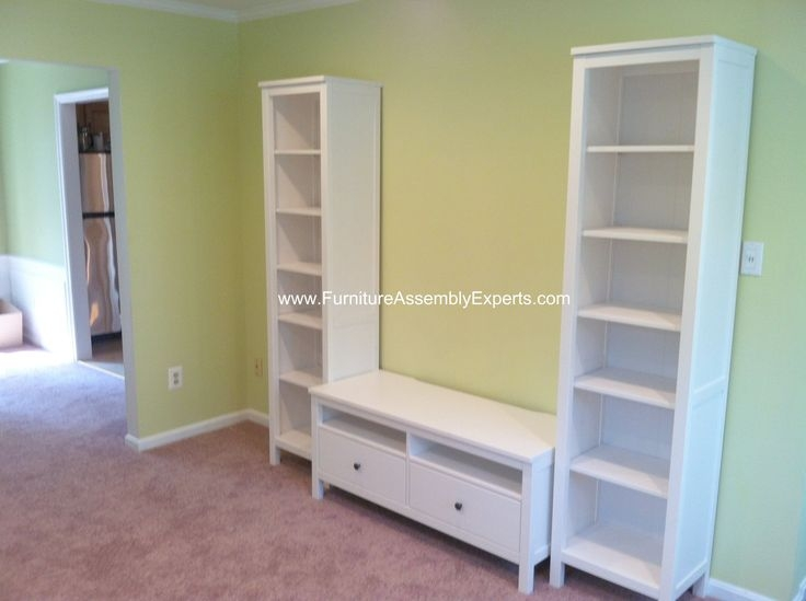 Great Deluxe TV Stands With Bookcases Regarding Ikea Hemnes Tv Stand And Bookcases Assembled In Chevy Chase Md (Image 24 of 50)