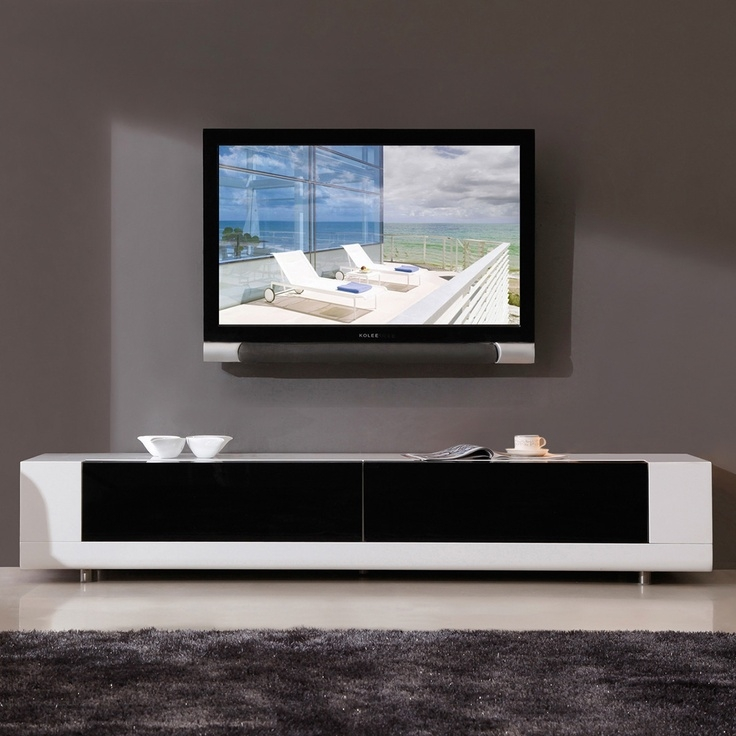Great Deluxe White And Black TV Stands For Best 20 White Gloss Tv Unit Ideas On Pinterest Tv Unit Images (Image 19 of 50)