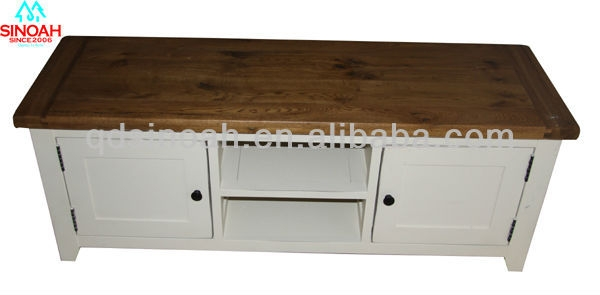 Great Deluxe White And Wood TV Stands Pertaining To 317 Range Solid Oak White Tv Standswooden Tv Units Buy Oak (Image 25 of 50)