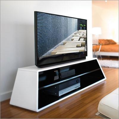 Great Deluxe White TV Stands For Flat Screens Within Rectangle Modern White Tv Stand (Image 26 of 50)