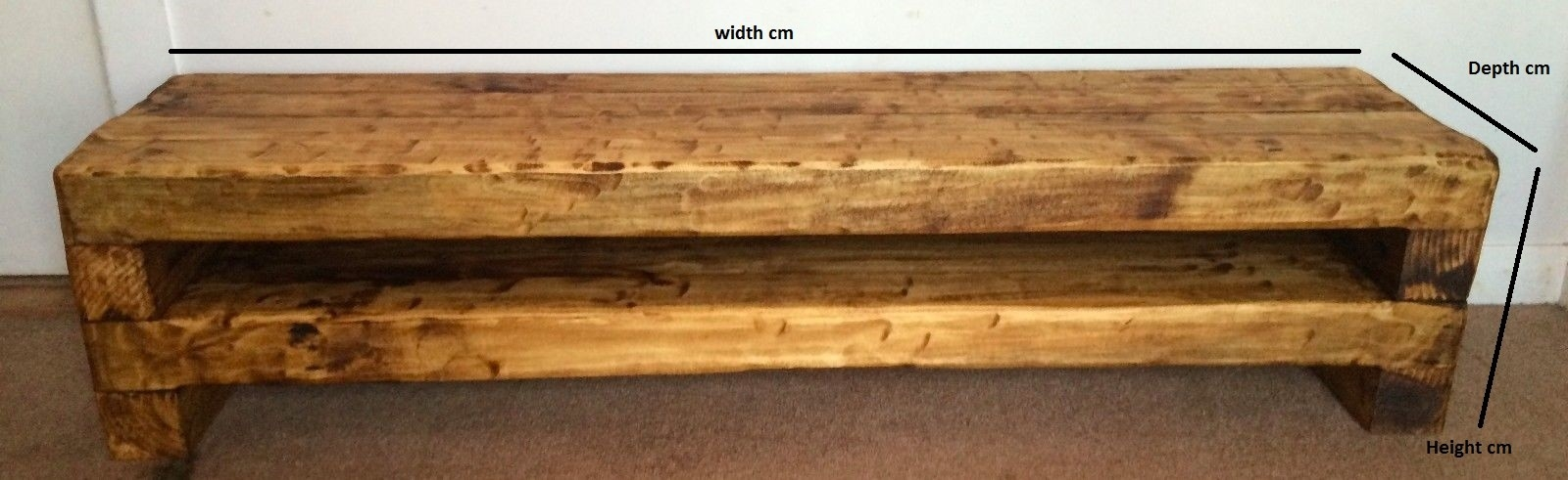 Great Elite Beam Through TV Stands Within Custom Tv Stand Quote Dudlewood (View 48 of 50)