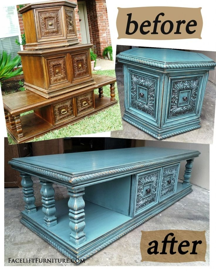 Great Elite Blue Coffee Tables Intended For Best 25 Refinished Coffee Tables Ideas Only On Pinterest (Image 22 of 50)