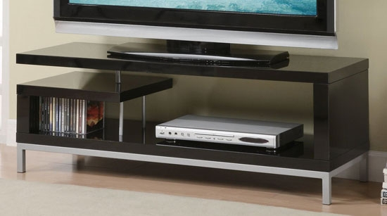 Great Elite Classy TV Stands Pertaining To Add Some Style Into Your Living Room With The Poundex Tv Stand (View 4 of 50)