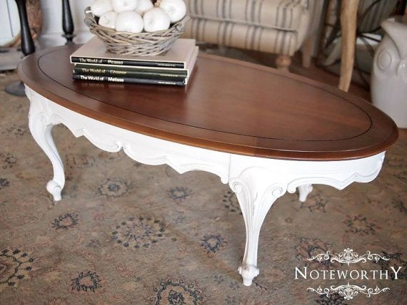Great Elite Country French Coffee Tables Intended For French Country White Coffee Table Noteworthyhome On Etsy (Image 22 of 50)