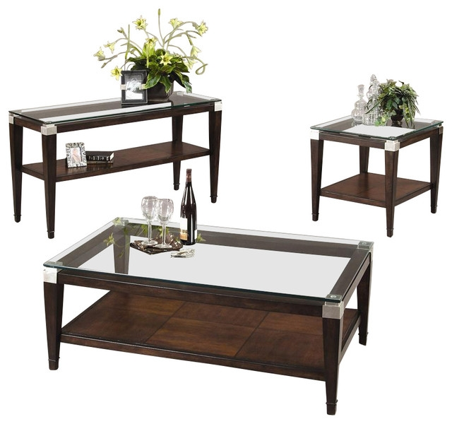 Great Elite Floating Glass Coffee Tables Within Glass Top Coffee Table Sets (Image 20 of 50)