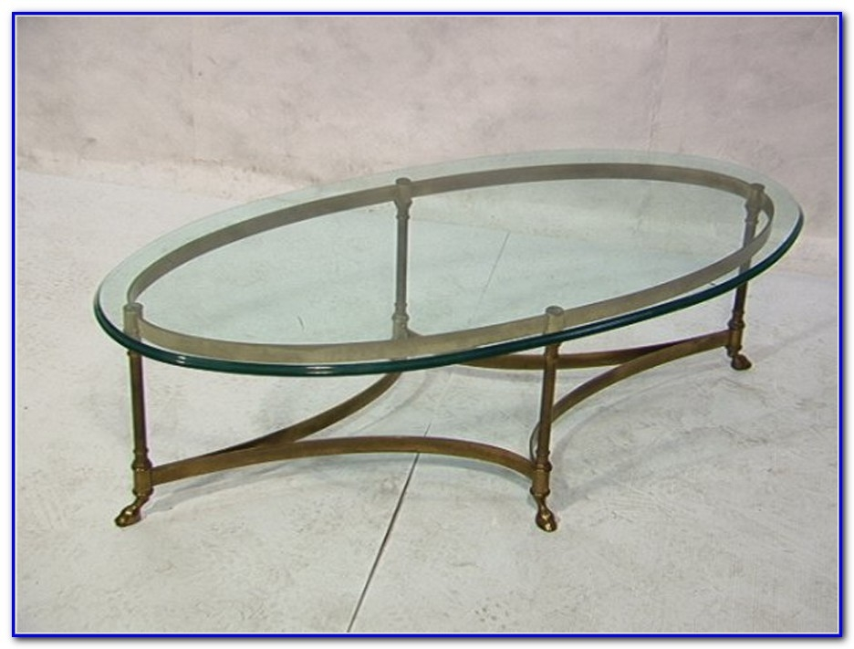 Great Elite Metal Oval Coffee Tables In Brass And Glass Coffee Table Oval Coffee Table Home Furniture (View 49 of 50)