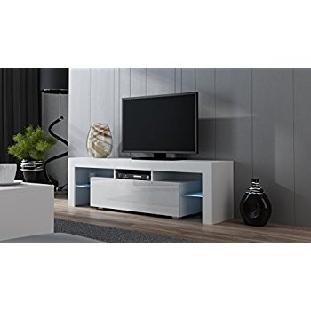 Great Elite Milano TV Stands Intended For Amazon Tv Stand Milano 130 Modern Led Tv Cabinet Living (Image 22 of 50)