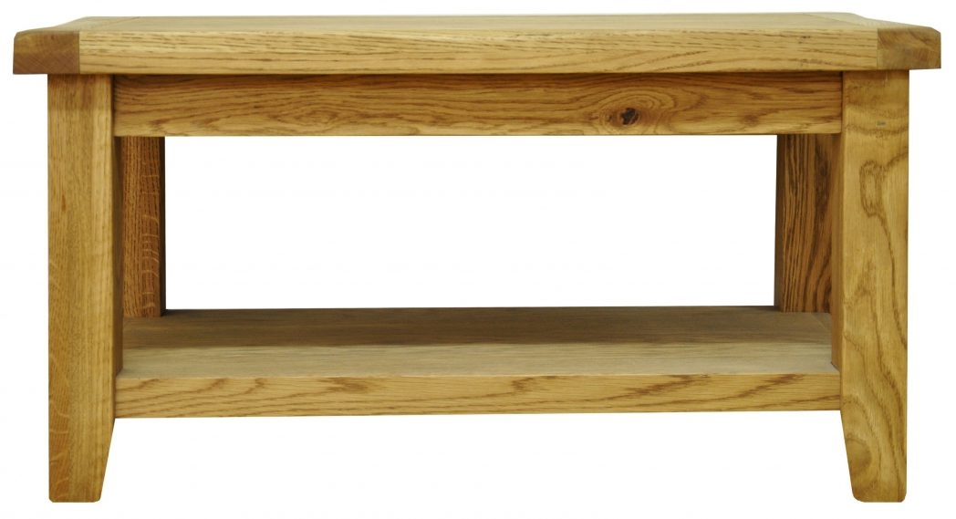 Great Elite Oak Coffee Table With Shelf With Regard To Oak Coffee Table With Shelf Coffee Tables Thippo (View 47 of 50)